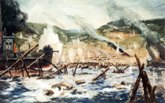 Painting of the Omaha Beach Landing